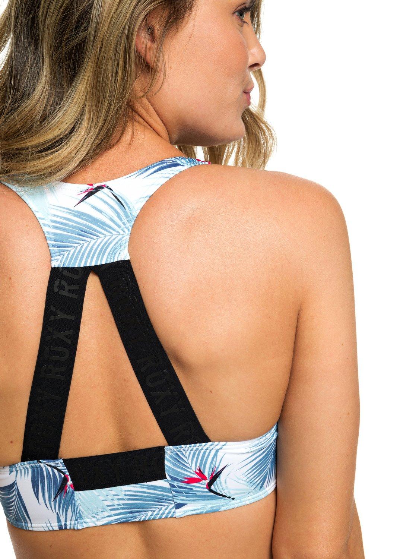 46b79af3ad5ed 3 ROXY Fitness - Sports Bra Bikini Top for Women White ERJX303851 Roxy