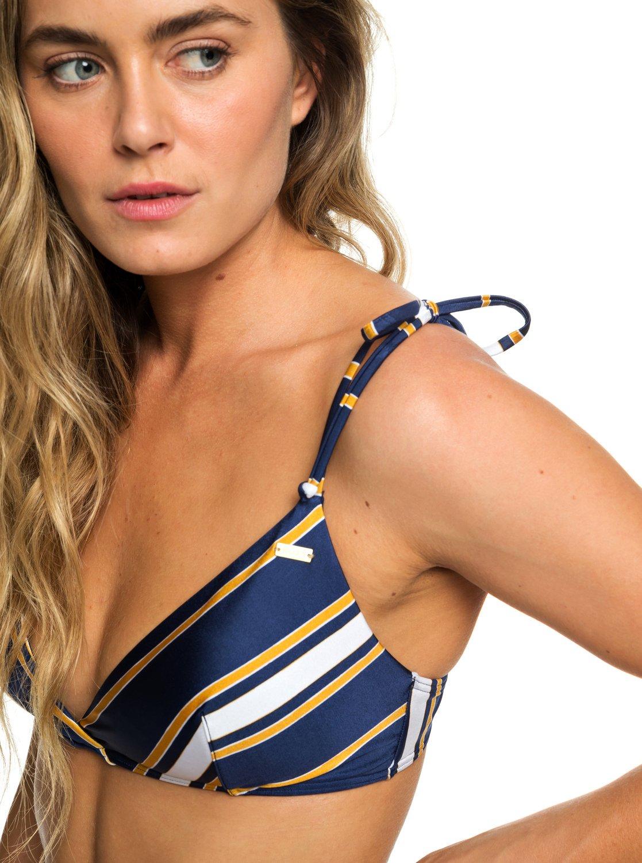 1 Romantic Senses - Haut de bikini triangle cache-cœur pour Femme Bleu  ERJX303861 Roxy 47389f961a6