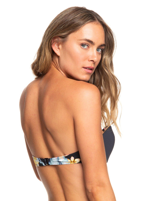 6 Dreaming Day - Haut de bikini bandeau moulé à armatures pour Femme Noir  ERJX303872 Roxy b70b2d145d5