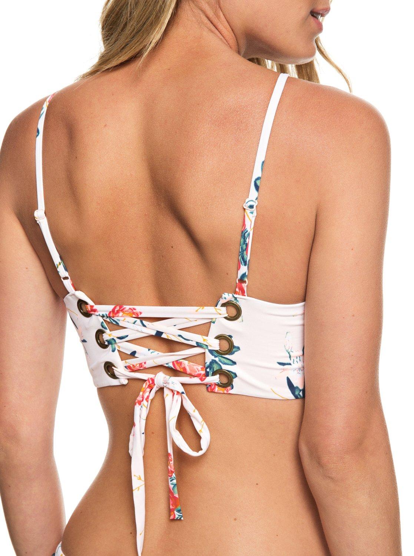 a6904a0792611 2 Beach Classics Crop Top Bikini Top Pink ERJX303883 Roxy