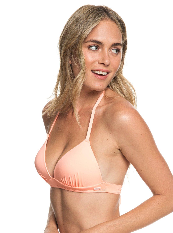 0b469d4d25890 1 Beach Classics - Moulded Triangle Bikini Top for Women Pink ERJX303951  Roxy