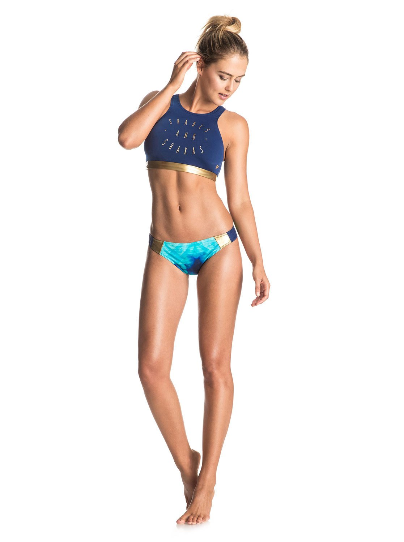 Achat Frais De Port Offerts Roxy Pop Surf Lycra Top Bikini Top blue Bikinis Sortie Avec Paypal 0VqtvJGx