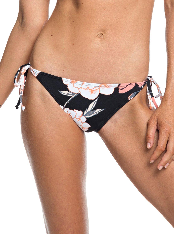 415403e424c15 0 Beach Classics Tie-Side Bikini Bottoms Black ERJX403682 Roxy
