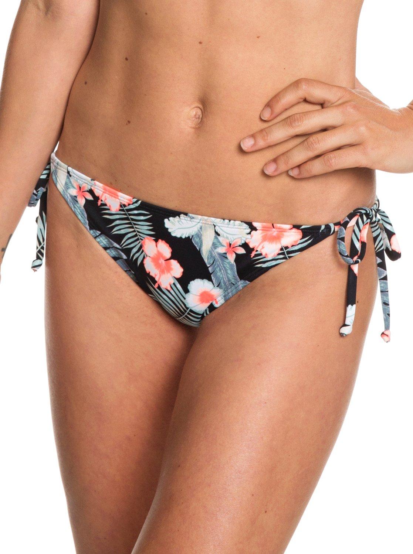 43275f8f8651c 0 Beach Classics - Tie-Side Bikini Bottoms for Women Black ERJX403682 Roxy