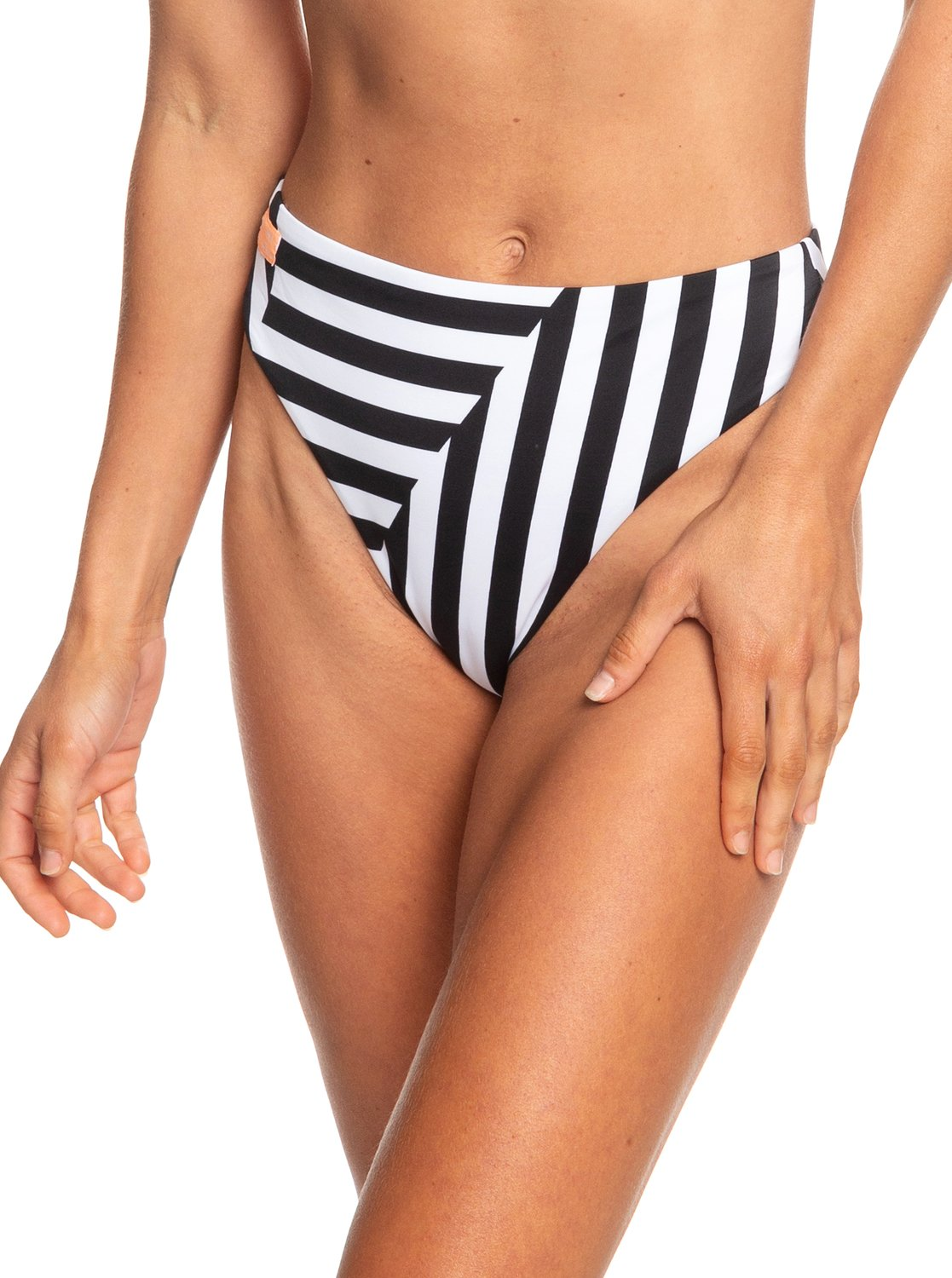 0 POP Surf High Leg Bikini Bottoms White ERJX403710 Roxy a5ce10b738