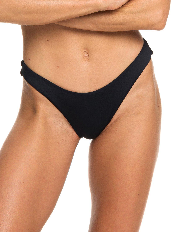 f255b1c9c6b0c 0 Beach Classics High Leg Bikini Bottoms Black ERJX403716 Roxy