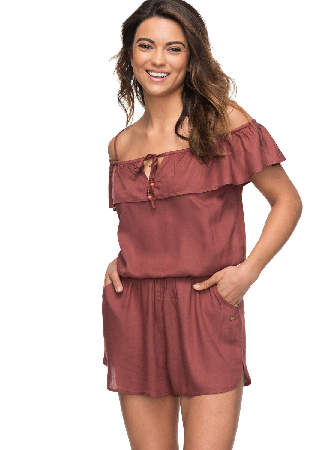aee0687d2932 ROXY Western Holiday off The Shoulder Romper Crd0 S for sale online ...
