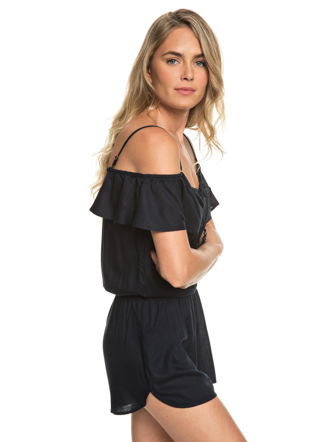 2a3a9489b7da ROXY Western Holiday off The Shoulder Romper Crd0 S. About this product.  Picture 1 of 13  Picture 2 of 13 ...