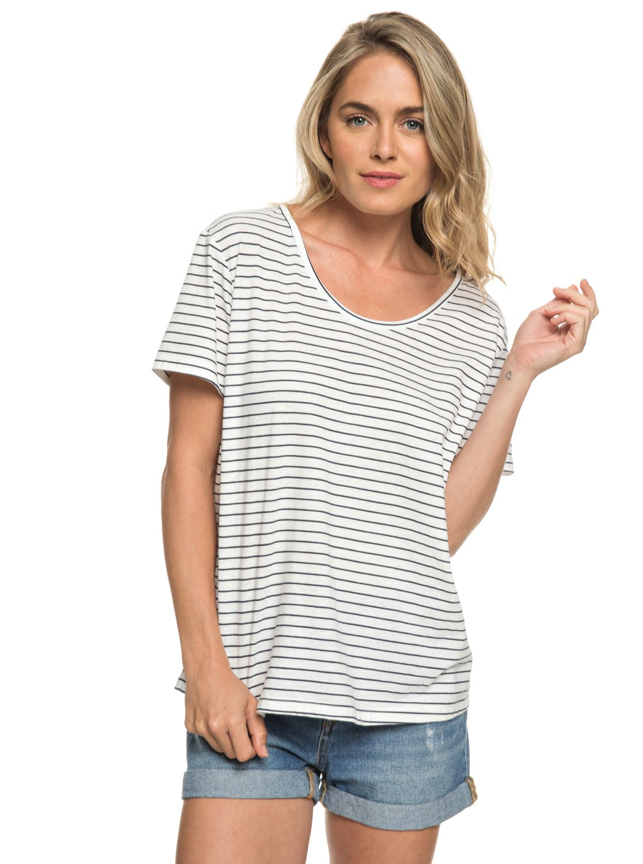 24fad5b46d1370 0 Just Simple Stripe - T-Shirt for Women Blue ERJZT04056 Roxy