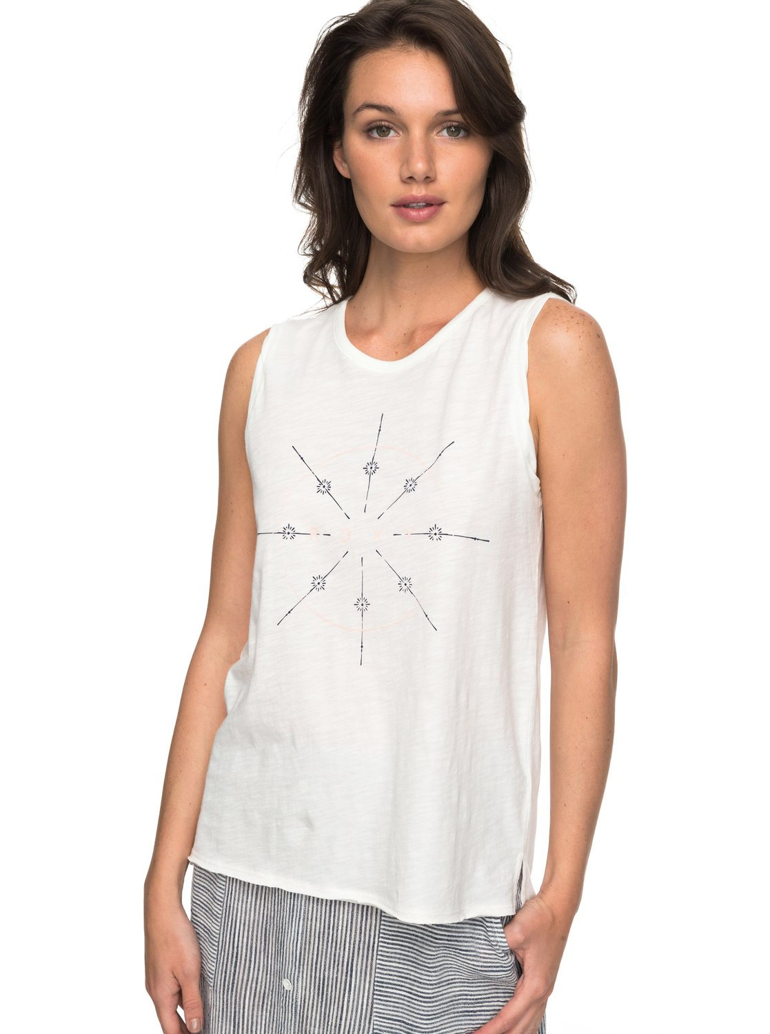 078ad51b90a86 0 Time For An Other Year - Sleeveless T-Shirt for Women White ERJZT04184  Roxy