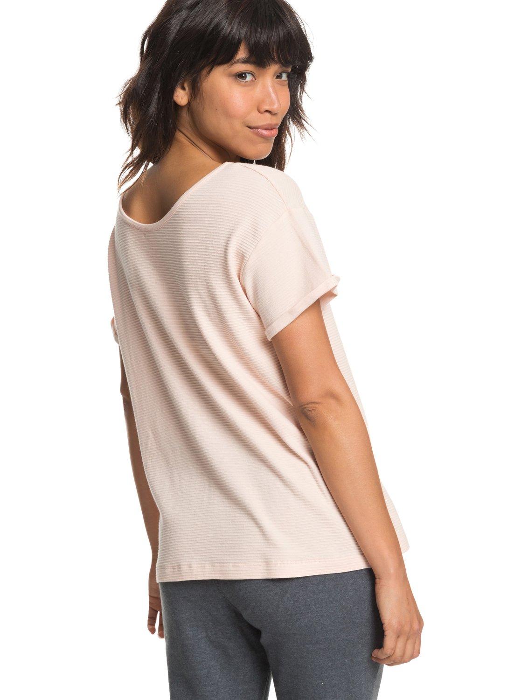 dd595cfd0d1c 4 Never Give Up - T-shirt boutonné pour Femme Rose ERJZT04341 Roxy