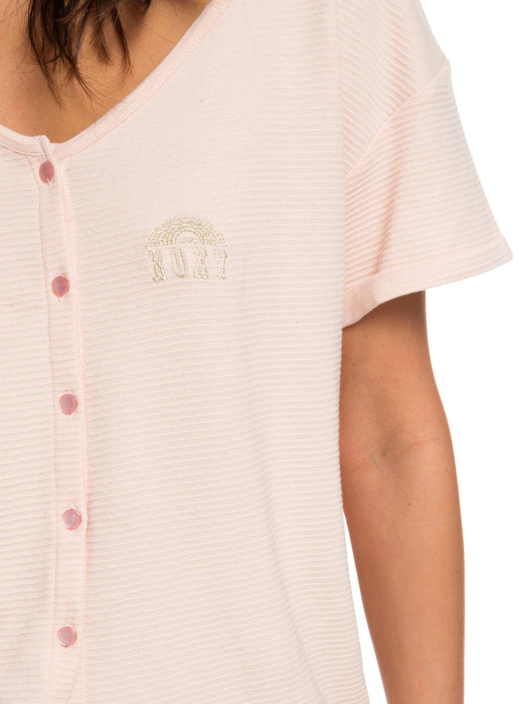 c8c72cf7d82a 2 Never Give Up - T-shirt boutonné pour Femme Rose ERJZT04341 Roxy