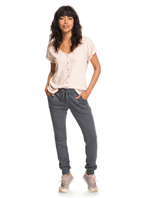 779828440043 3 Never Give Up - T-shirt boutonné pour Femme Rose ERJZT04341 Roxy