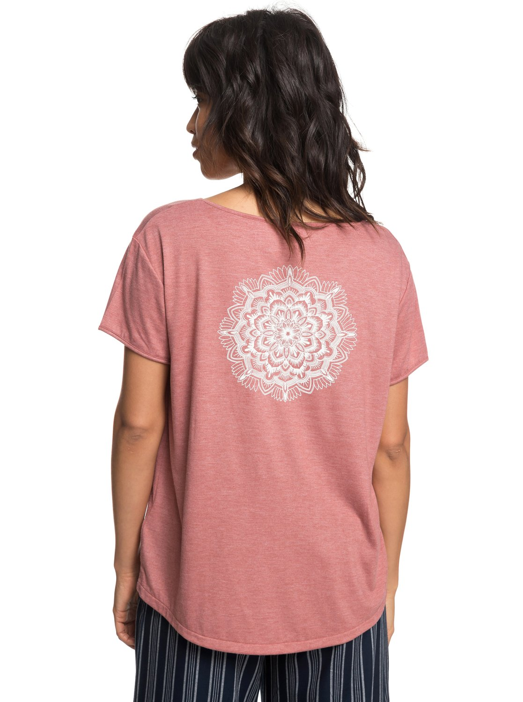 a4d1063f5c7d 4 My Own Sun B - T-shirt col rond pour Femme Rose ERJZT04408 Roxy