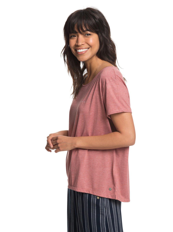 5b5ff04c5b4c 1 My Own Sun B - T-shirt col rond pour Femme Rose ERJZT04408 Roxy
