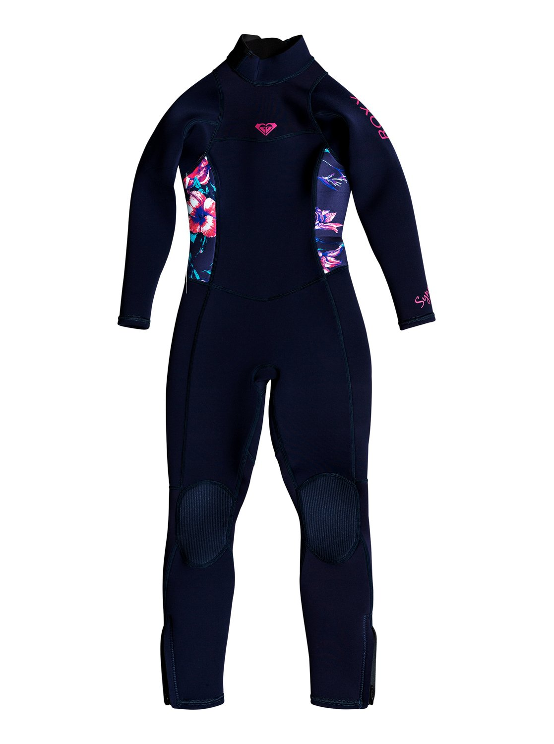 8f9bcd72ac 0 Girl s 2-6 3 2mm Syncro Series Back Zip FLT Wetsuit Blue ERLW103000