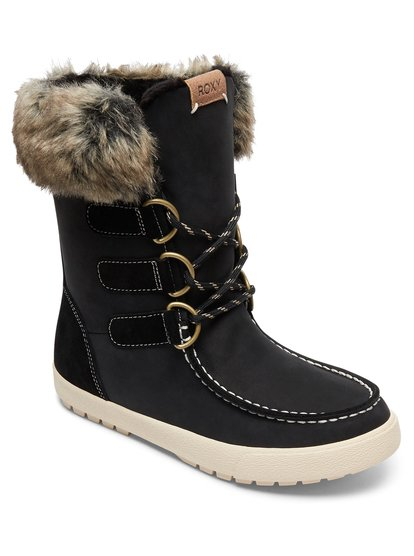 0 Rainier - Waterproof Winter Boots for Women Black ARJB300018 Roxy 2dc706f67f