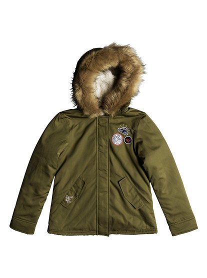Feel The Sun - Military Hooded Parka for Girls 8-16  ERGJK03058