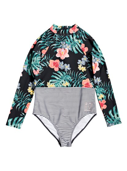 Happy Spring - Long Sleeve UPF 50 One-Piece Swimsuit for Girls 8-16  ERGWR03121