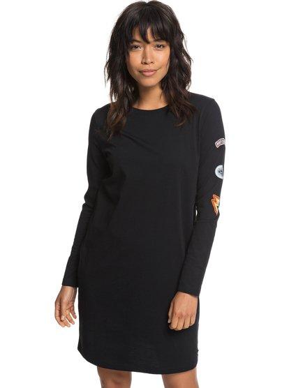 Boyish Look - Long Sleeve T-Shirt Dress for Women  ERJKD03213