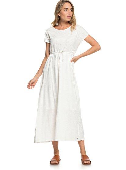 Wavelines - Short Sleeve Maxi Dress for Women  ERJKD03251