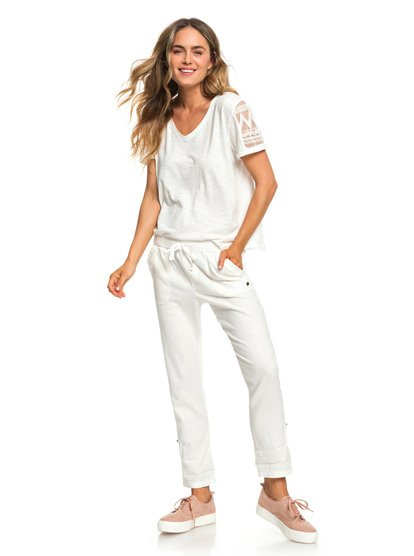 Symphony Lover New - Linen Trousers for Women  ERJNP03226