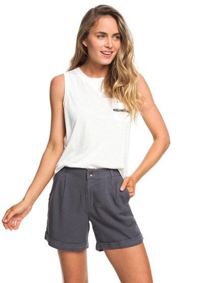 Across The Streets - Viscose Shorts for Women  ERJNS03207