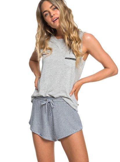 Forbidden Summer Stripe - Sweat Shorts for Women  ERJNS03210