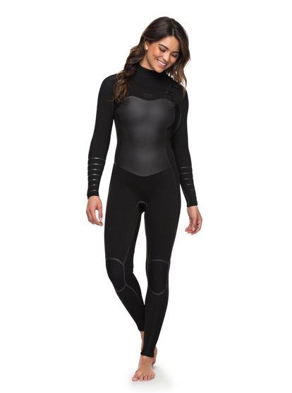 5a09de8cd3 0 4 3mm Syncro Plus - Chest Zip Wetsuit for Women Black ERJW103030 Roxy