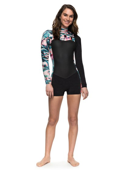 2/2mm Performance - Long Sleeve Chest Zip Springsuit for Women  ERJW403009