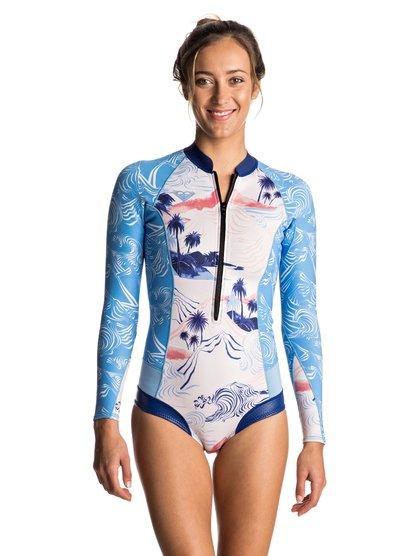 1mm POP Surf Cheeky - Long Sleeve Front Zip Springsuit for Women ERJW403013   5450d5726