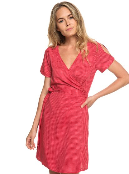 Monument View - Short Sleeve Wrap Dress  ERJWD03249