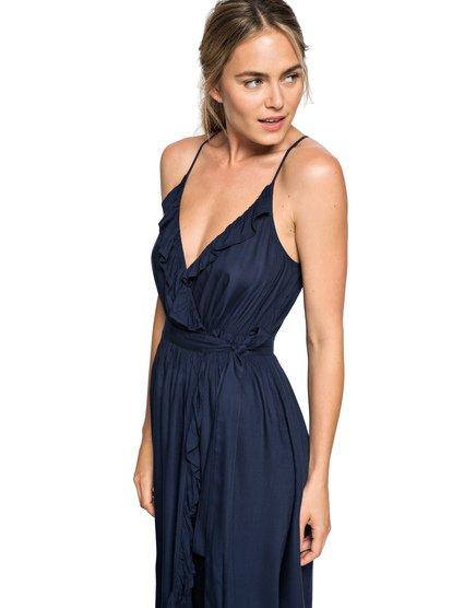 Rooftop Sunrise - Strappy Midi Wrap Dress for Women  ERJWD03304