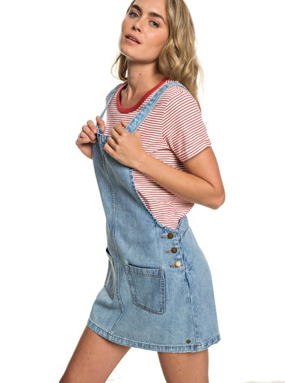 Love To Travel - Denim Dungaree Dress for Women  ERJWD03319