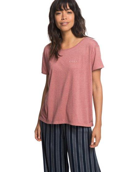 18411de087c1 0 My Own Sun B - T-shirt col rond pour Femme Rose ERJZT04408 Roxy
