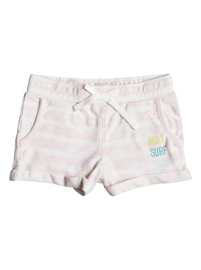 Laugh And Love Stripe - Sweat Shorts  ERLFB03044