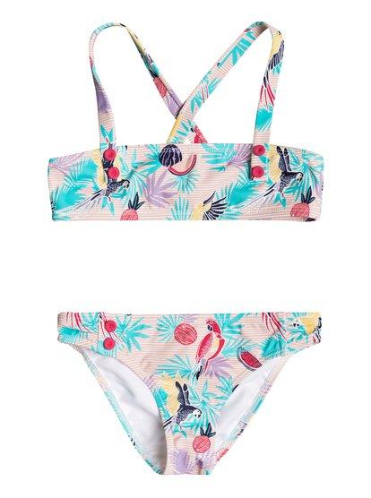 Vintage Tropical - Bandeau Bikini Set for Girls 2-7  ERLX203048