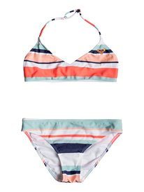 58180a0e71b65 ... Happy Spring - Triangle Bralette Bikini Set for Girls 8-16 ERGX203193