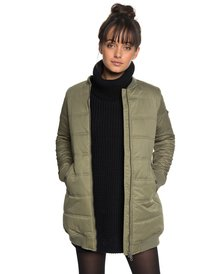 Fade Out - Water Repellent Longline Padded Bomber Jacket for Women  ERJJK03255 775bf1cfd4c