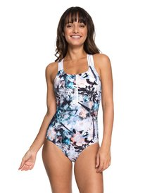 ... ROXY Fitness - Sporty One-Piece Swimsuit for Women ERJX103144 ... 6a9f2f5b08f