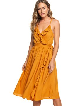 Rooftop Sunrise Midi Length Strappy Dress For Women  ARJWD03237