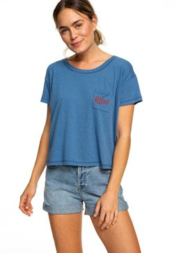 CHASING WAVES CROP POCKET TEE  ARJZT05162