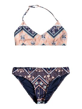 Heart In The Waves - Triangle Bralette Bikini Set for Girls 8-16  ERGX203198