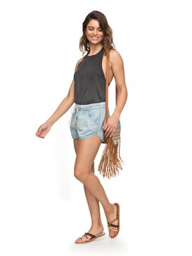 e6ce4a21400 Music Never Stop - Denim Beach Shorts for Women ERJDS03152