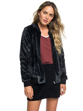 Tropical Rain - Faux-Fur Bomber Jacket for Women  ERJFT03872