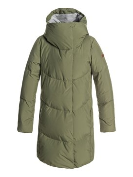 Abbie - Waterproof Hooded Longline Puffer Jacket for Women  ERJJK03234