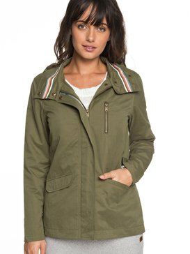 Lightening Strike - Hooded Military Jacket for Women  ERJJK03260