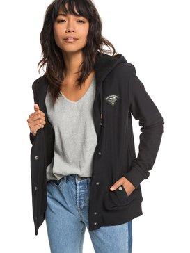 Wind Swept - Button-Up Hooded Jacket for Women  ERJPF03038