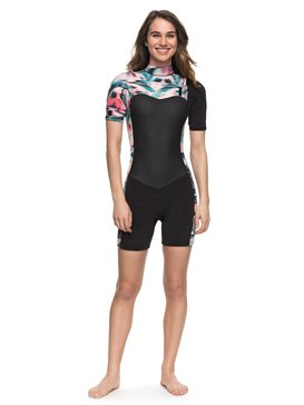 2/2mm Performance - Short Sleeve Chest Zip Springsuit for Women  ERJW503005