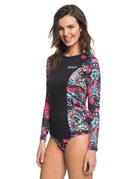 ROXY Waves Swim - Long Sleeve UPF 50 Rash Vest for Women  ERJWR03209